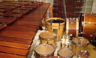 音楽鑑賞会の楽器乾燥中